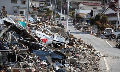 Aftermath of a tsunami
