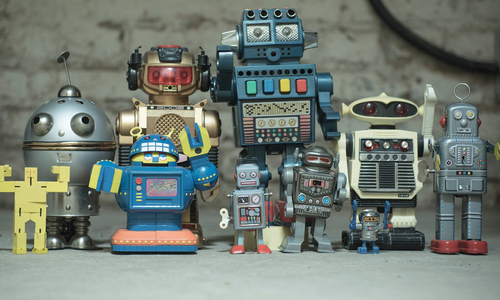 A group of toy robots