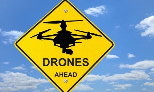 sign: Drones Ahead
