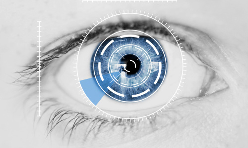 A person's pupil