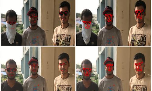 A grid illustrating ubiquitous facial recognition