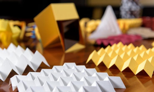 assortment of origami structures that can be designed in new software