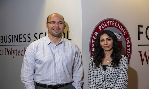 Associate professor Andrew Trapp and PhD student Narges Ahani are working to develop software to aid in refugee placement.