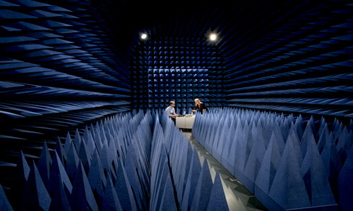 'shield' room where researchers test their radar