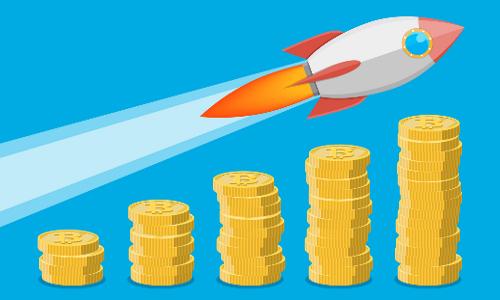 Salaries skyrocketing, illustration