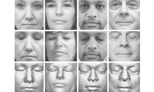 facial images reconstructed from brain scans