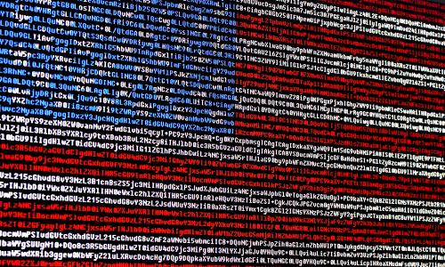 U.S. flag comprised of code