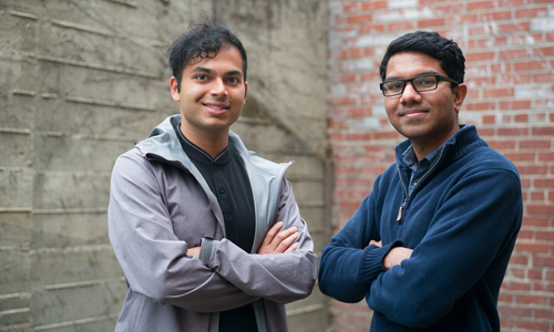 Ash Bhat, left, and Rohan Phadte, the founders of RoBhat Labs