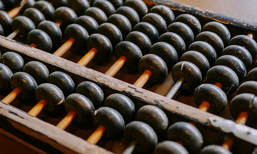 Vintage abacus on a table