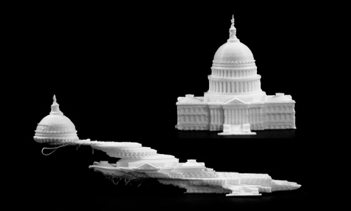 3d printed models of US capitol buildings