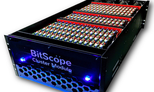 A photo of the BitScope Pi Cluster modules system.
