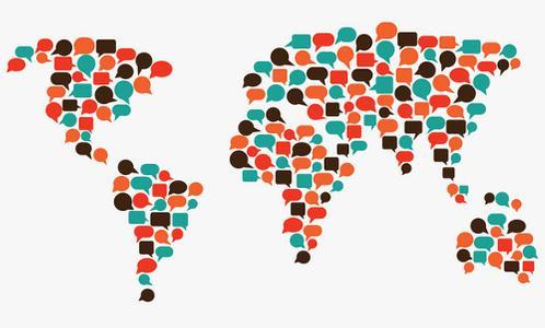 world of communication, illustration