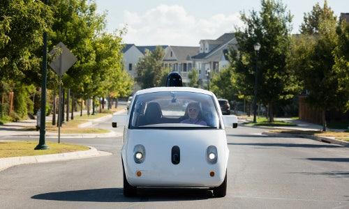 legally blind employee in autonomous car