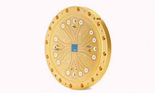 An 8-qubit quantum processor, which powers a small quantum computer