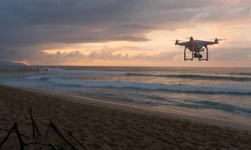 drone on patrol