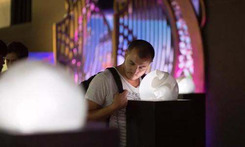 A man next to a Cacophonic Choir