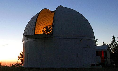 A photo of The University of Arizona's Catalina Sky Survey telescope.