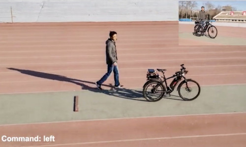 A self-driving bicycle