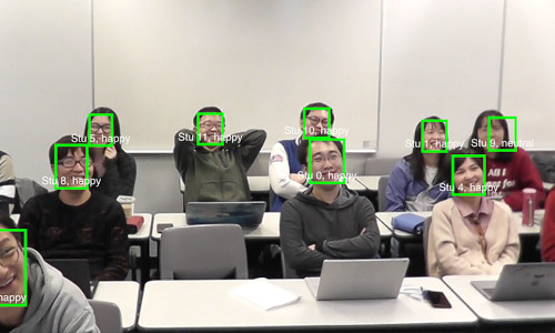 AI analyzing students' emotions