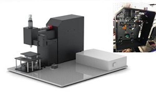 A custom-built two-photon microscopy system.