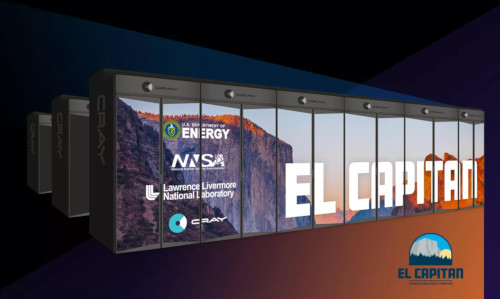 A mockup of Cray's El-Capitan, the NNSA's first exascale supercomputer