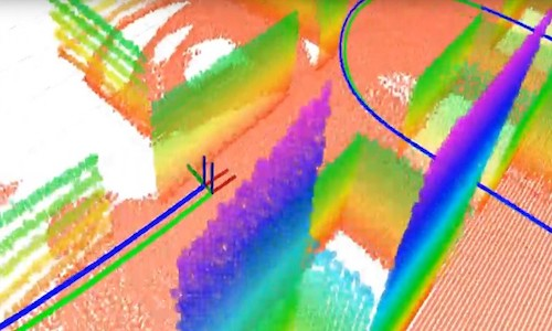 An example of a 3D plane-based map using a 3D LiDAR and an inertial sensor.