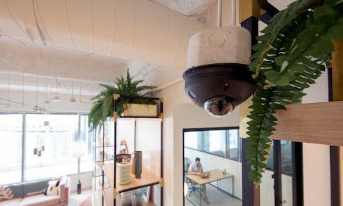 Security camera at co-working space in Houston