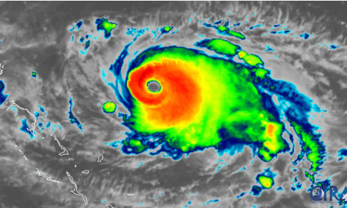 Image of the hurricane