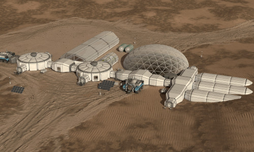 The Interactive model of living on Mars.