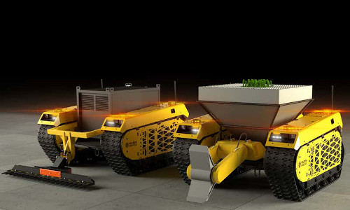 Mock-ups of the robotic foresters.