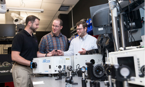 Three men involved in developing a new technique to measure quantum entanglement