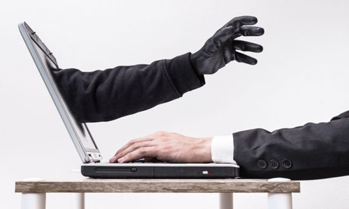 An artist's impression of wireless hackers in one's computer
