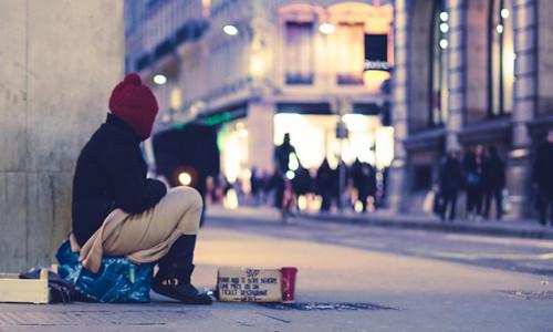 A homeless individual.