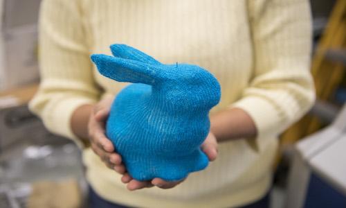A 3D bunny.