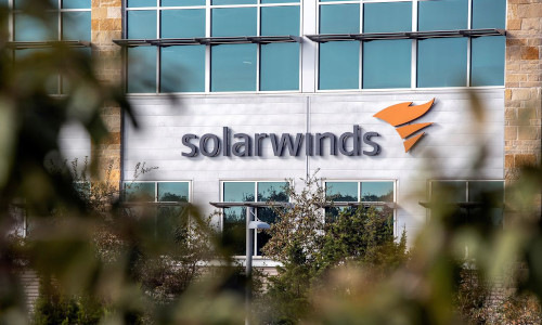 SolarWinds sign on building