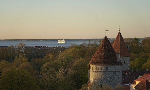 A ferry departing from Estonia's capital Tallinn