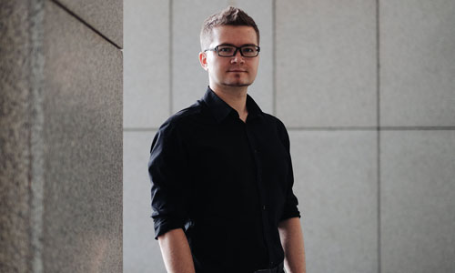 A portrait of Vitaly Kamluk, a cybersecurity and malware expert