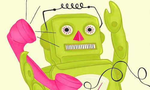 cartoon of a virtual assistant