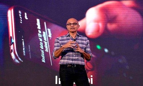Microsoft's chief executive Satya Nadella.