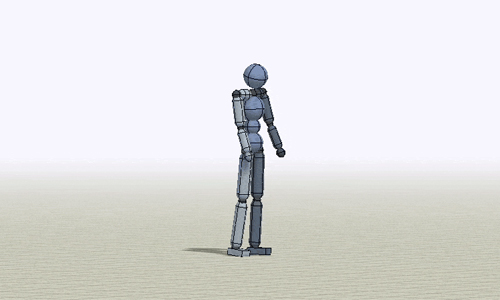 An animated figure created using deep reinforcement learning