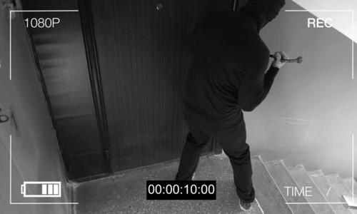 Burglar caught on security camera