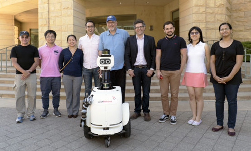 The JackRabbot project team with JackRabbot 2