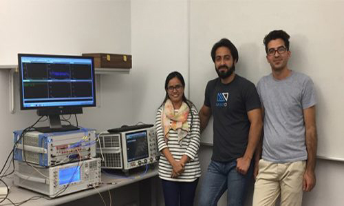 Student researchers from the Boise State the lab