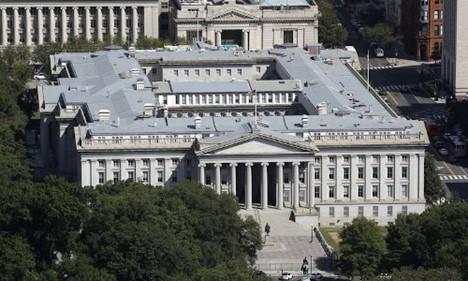The U.S. Treasury Department building.