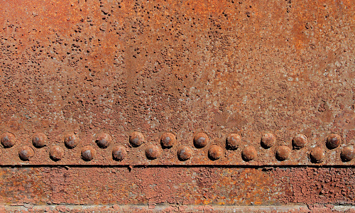 Rusted iron wall
