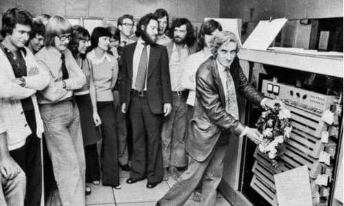 Tony Brooker, far right, with colleagues